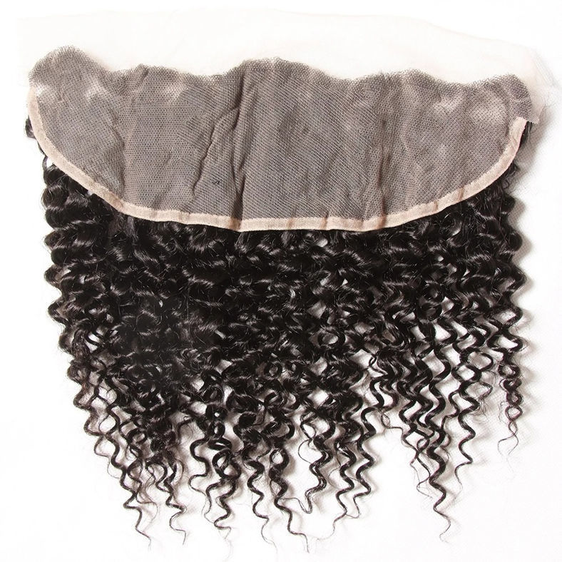 SocoosoHairWig 1 unit indian virgin curly hair 13x4 inch ear to ear lace frontal on sale