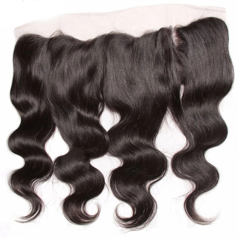 SocoosoHairWig indian 1 piece body wave human hair lace frontal 13x4 inch area ear to ear frontal