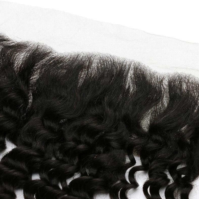 SocoosoHairWig deep wave indian virgin human hair 13x4 inch square lace frontal
