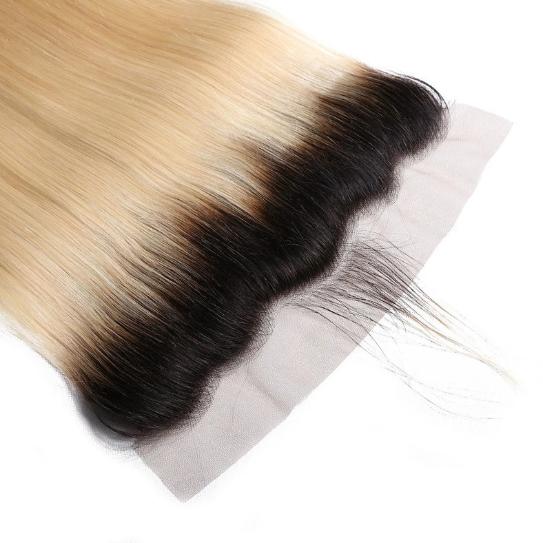 SocoosoHairWig 1b613 ombre color top human hair lace frontal closure of 13x4 straight hair