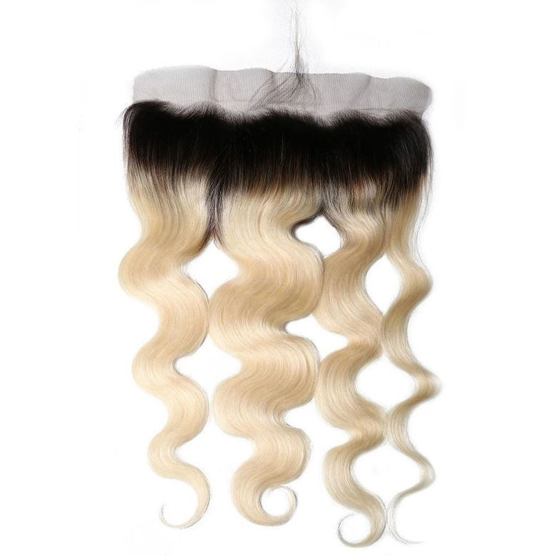 1b613 ombre virgin hair lace closure 13x4 inch body wave frontal