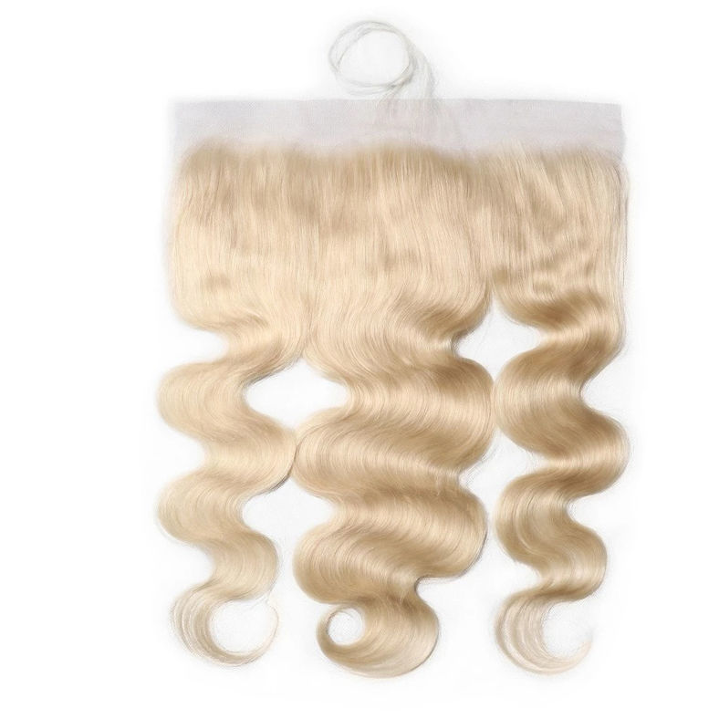 SocoosoHairWig 613 colored virgin human hair lace closure 13x4 inch square body wave frontal