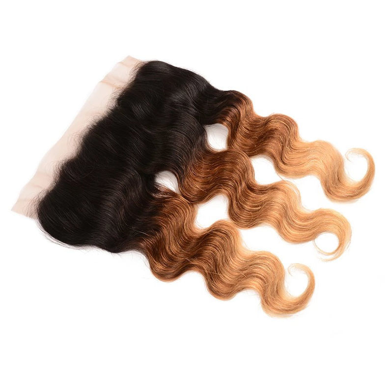 ombre color t1b427 body wave unprocessed virgin hair 13x4 SocoosoHairWig lace frontal on sale