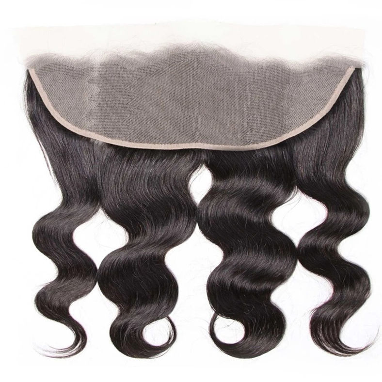 1pcs SocoosoHairWig body wave human hair transparent 13x4 inch lace frontal