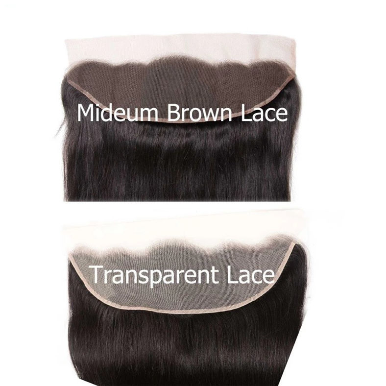 straight human hair 13x4 inch transparent lace frontals 4 type peruvianmalaysianbrazilianindian hair