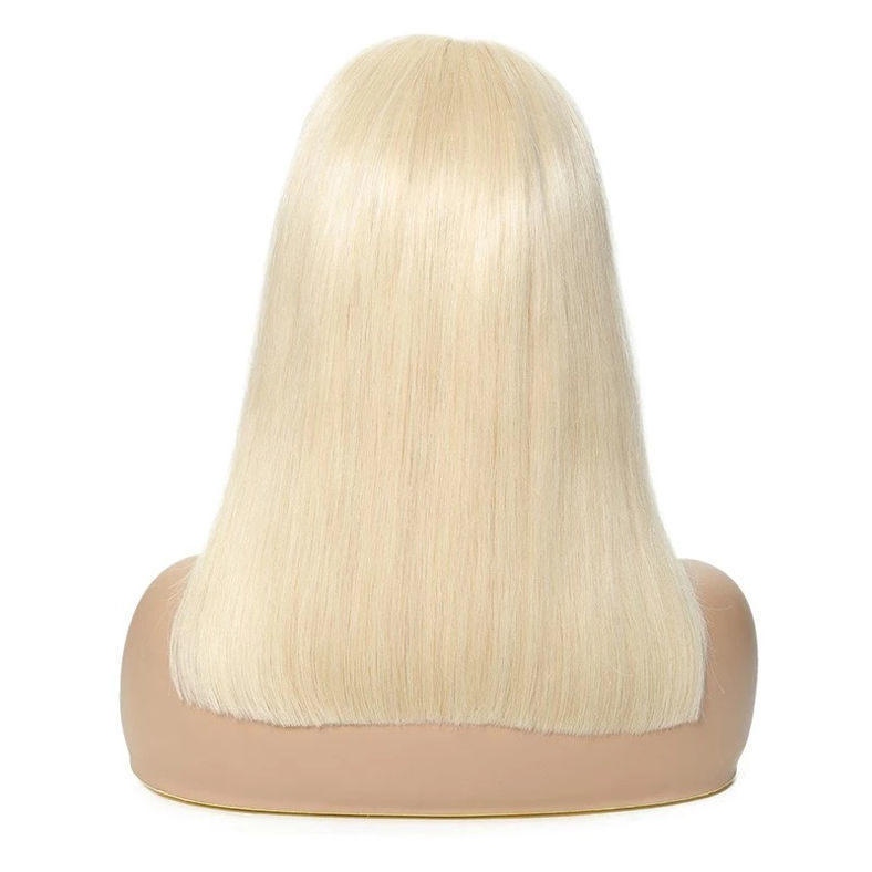 SocoosoHairWig lace front straight remy hair 613 color bob wigs of 150 hair density
