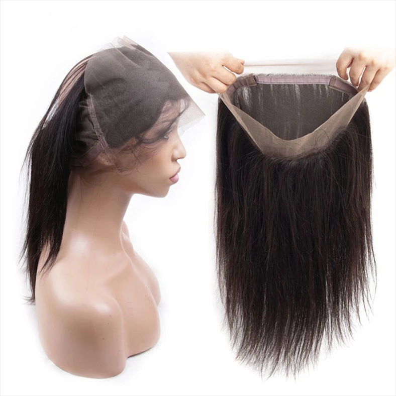 SocoosoHairWig straight human hair 360 lace frontal of 10 20 inch length for selection