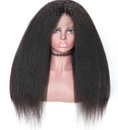 hot sale SocoosoHairWig kinky straight 150 and 180 hair density remy human hair of half 360 lace wigs