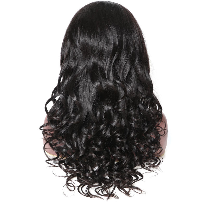 SocoosoHairWig 14 24 inch 360 lace remy hair wigs natural wave style natural black 150180 hair density f