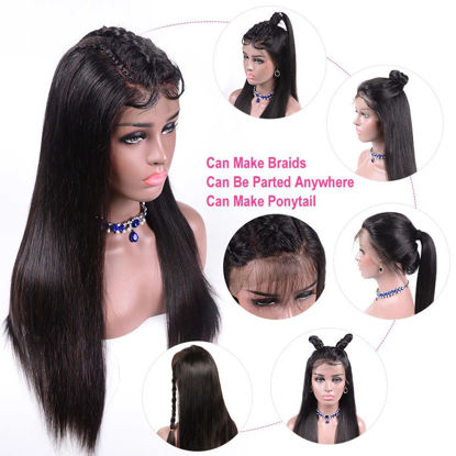 SocoosoHairWig 9a top grade transparent lace front straight remy human hair wigs thick 150180 density no
