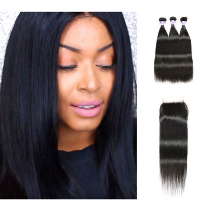 top notch SocoosoHairWig 100 straight sleek human hair extensions 3 bundles 8 32 inch plus seamless natu