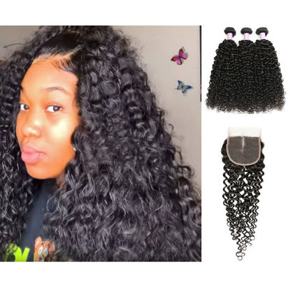 trending SocoosoHairWig 3 bundles 100 natural malaysian jerry curly hair wefts with 44 bleached knot lac