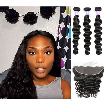 SocoosoHairWig high quality peruvian loose deep wave virgin human hair with 13x4 inch lace frontal closu