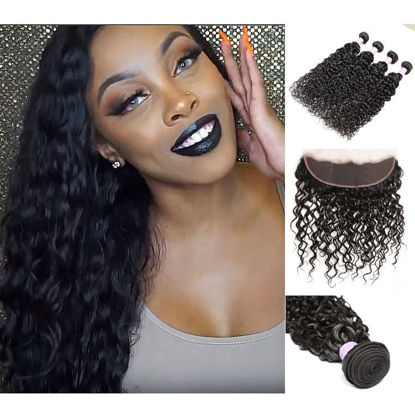 peruvian natural wave weft SocoosoHairWig 3 bundles hair and lace frontal 13x4 inch