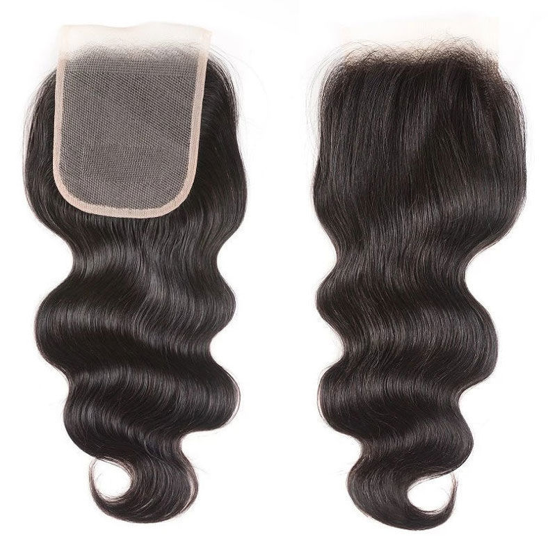 SocoosoHairWig 1 unit 4x4 inch square transparent lace closure of body wave free part type