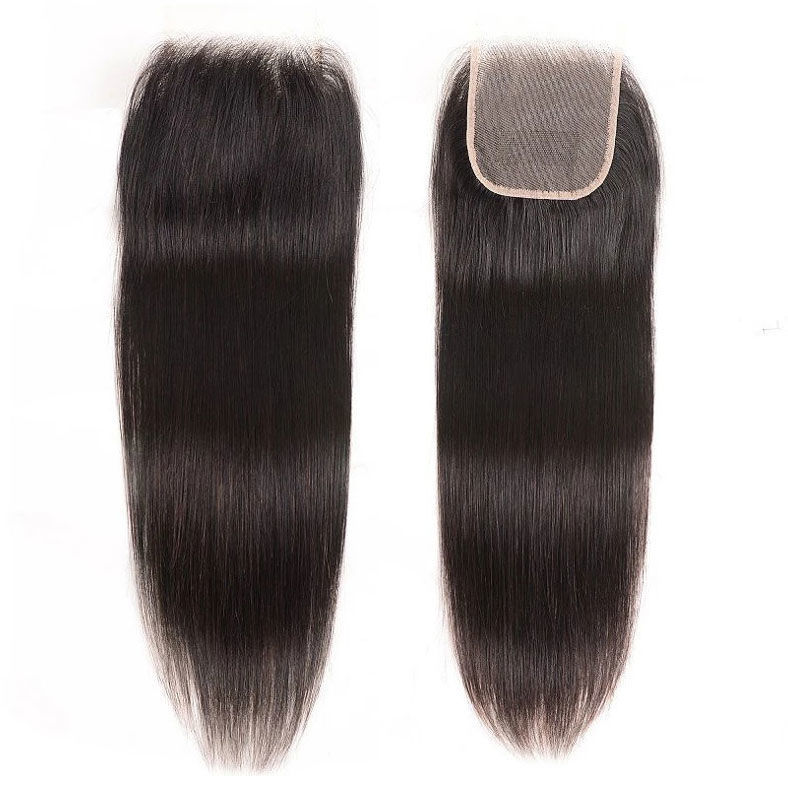 SocoosoHairWig 1 pcs 4x4 inch straight style human hair transparent free part lace closures