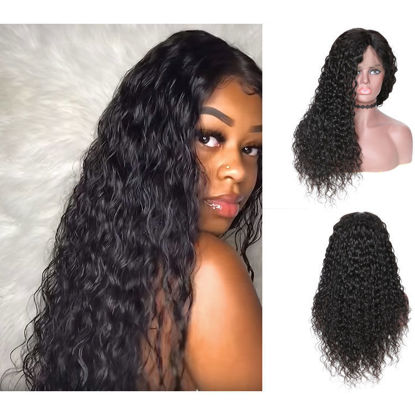 SocoosoHairWig high quality 360 lace human hair wigs of natural black water wave 100 remy hair wig in 10