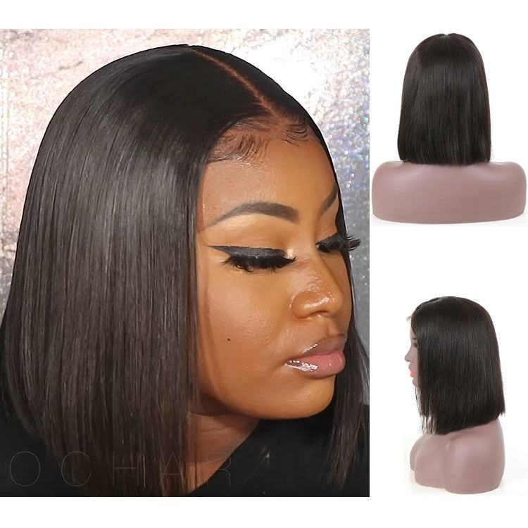 SocoosoHairWig short bob 13x413x6 lace front wigs brazilian human remy hair straight wigs