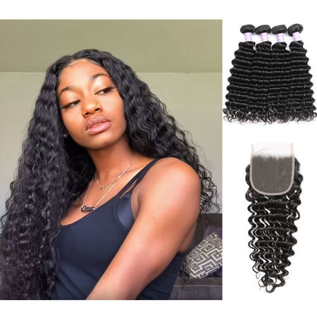 Picture for category 4 Bundles Hair with Closure